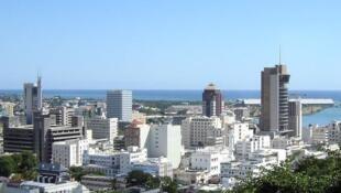 Une vue de Port-Louis, la capitale de l'Ile Maurice.