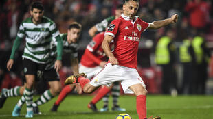 Jonas, avançado brasileiro do Benfica, apontou o golo do empate no dérbi de Lisboa entre os benfiquistas e o Sporting CP.