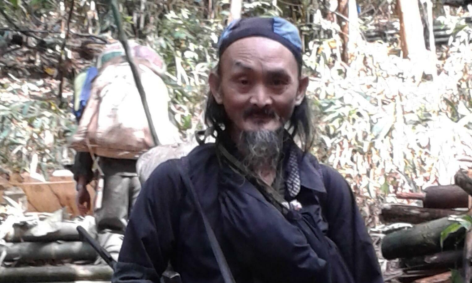 "Chong Lor Her, ""President"" of the Hmong Chaofa, pictured in his hideout in the jungle"