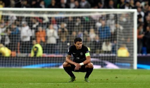 Beki wa PSG Thiago Silva baada ya mchuano dhidi ya Real Madrid katika michuano ya Ligi ya Mabingwa, Novemba 3, 2015, Bernabeu.