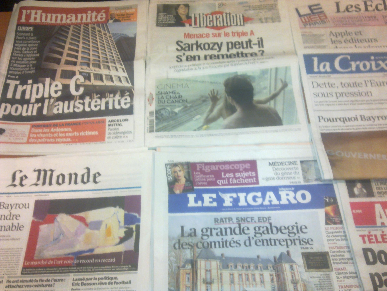 Diários franceses  07/12/2011