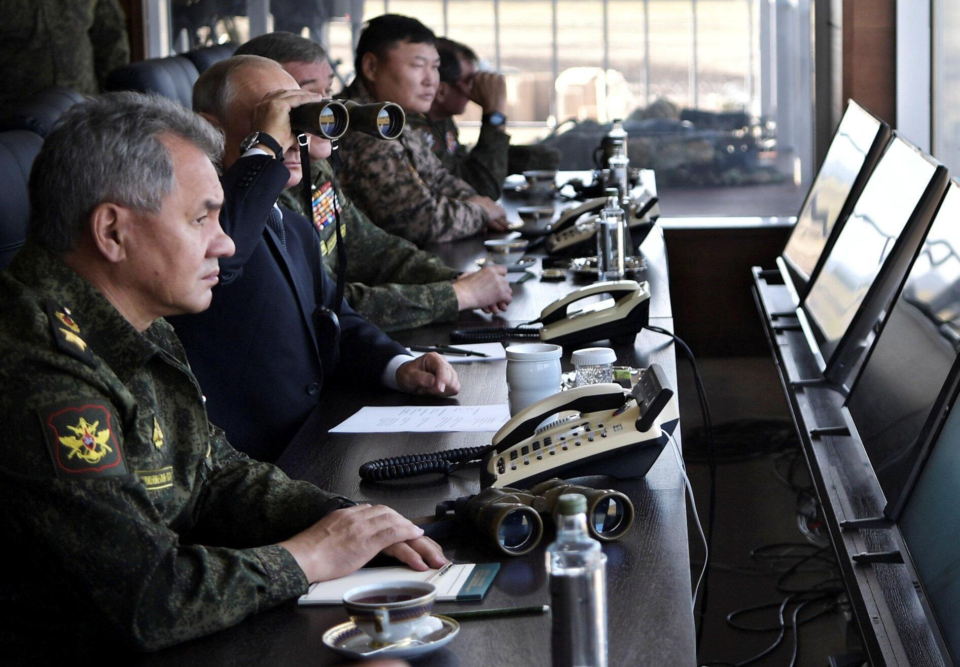 2018年9月13日俄羅斯總統普京觀看俄羅斯最近四十年最大規模軍事演習。