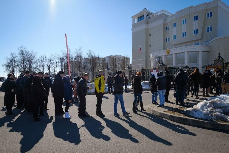 Избирательный участок в Минске, 18 марта 2018.