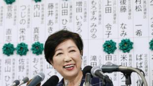 東京都知事小池百合子領導的勢力2017年7月2日在東京都議會選舉中獲勝。
