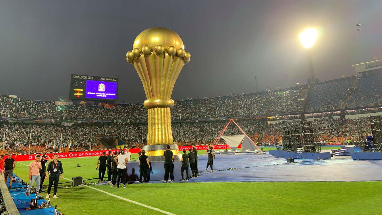 Le Stade international du Caire, vendredi 19 juillet, avant la finale Sénégal-Algérie.