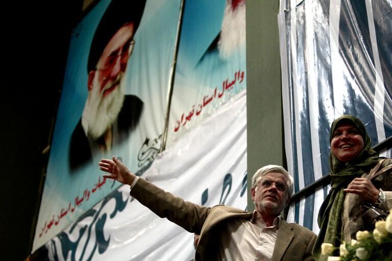 Mohammad Reza Aref em seu último comício, em Teerã, no dia 10 junho de 2013.