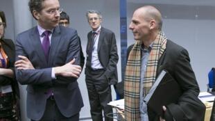 Bộ trưởng Tài chính Hy Lạp Yanis Varoufakis từ chối đề nghị triển hạn tài trợ của châu Âu - REUTERS /Yves Herman