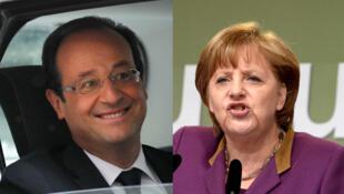 """Angela Merkel dijo querer recibir a François Hollande """"con los brazos abiertos""""."""