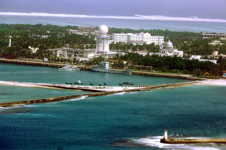 Ville de Sansha, îles Paracels. Photo: 27 juillet 2012.