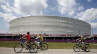 Le nouveau stade  Wroclaw, en Pologne, spécialement construit pour l'Euro 2012.