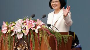 Tổng thống Đài Loan (Tsai Ing-wen) trong buổi lễ nhậm chức, Đài Bắc, 20/05/2016.