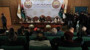 A Benghazi, le Parlement libyen, qui ne reconnaît pas la légitimité du Gouvernement d'union nationale (GNA) établi à Tripoli, a voté la rupture des relations avec la Turquie, le 4 janvier 2020.