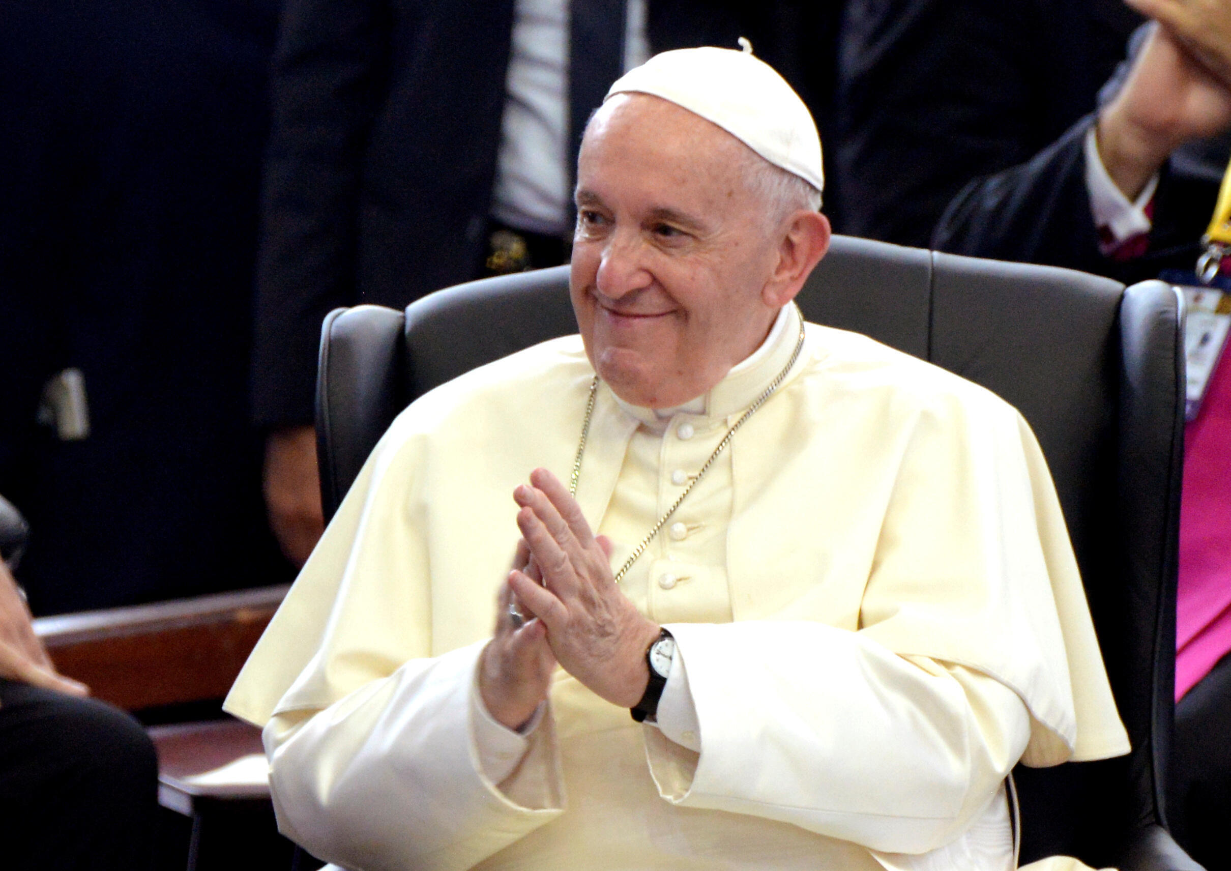 Pope Francis spoke to politicians during his visit to Mozambique.