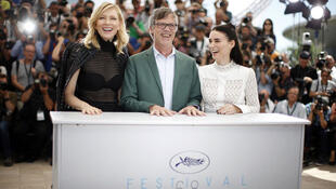 Cate Blanchett, Todd Haynes and Rooney Mara before the screening of Carol at Cannes