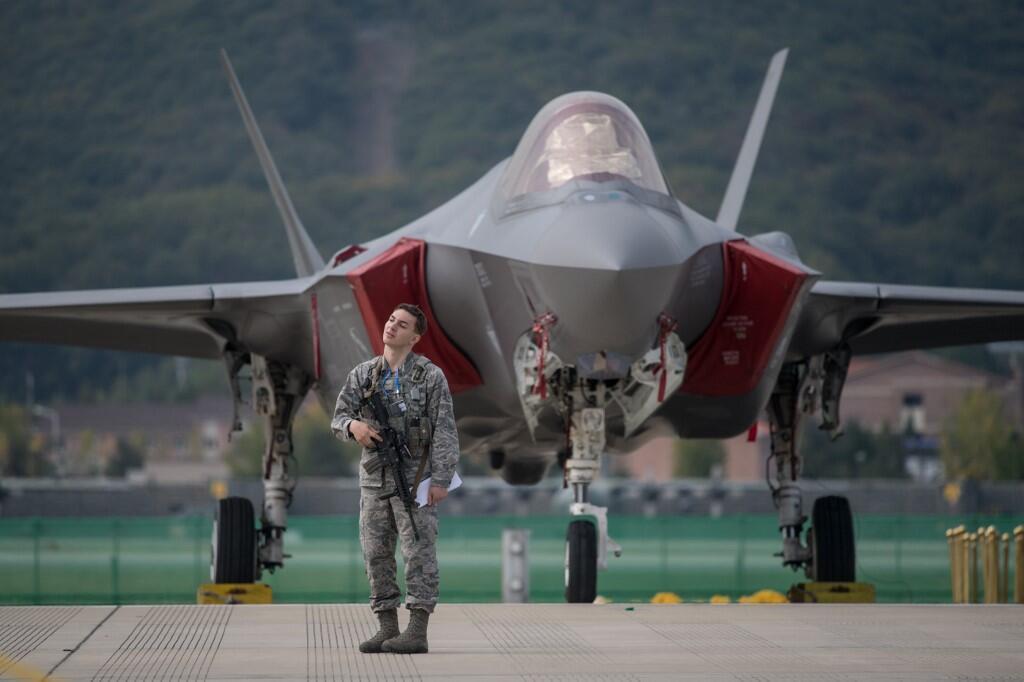 Le F35, avion de chasse américain. (Photo d'illustration)