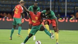 Guiné-Bissau derrotou Moçambique por 1-0. Imagem de Ilustração.