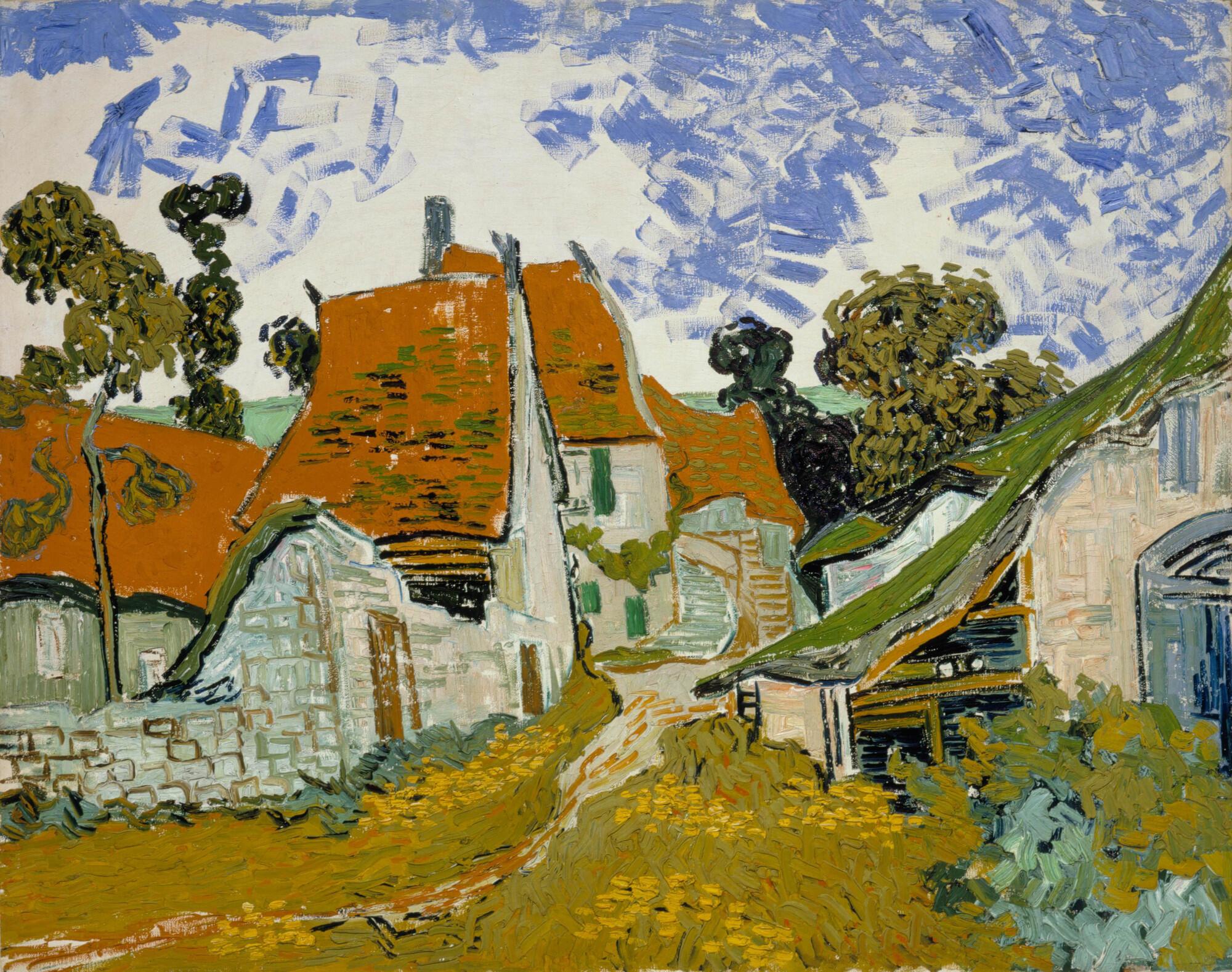 """""""Phố ở Auvers-sur-Oise"""", một tác phẩm của Van Gogh."""