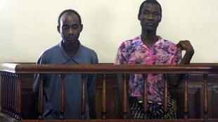 File photo shows Steven Monjeza and Tiwonge Chimbalanga appearing before a magistrate court in Blantyre