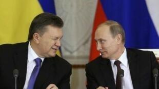 Виктор Янукович и Владимир Путин (архив)