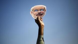 Narendra Modi, le candidat du principal parti d'opposition BJP.