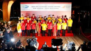 """APEC峰會""""全家福""""2018年11月17日莫爾斯比港"""