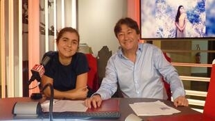 Dom  La nena y Jordi Batallé en RFI