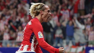Antoine Griezmann scored the first goal in Atletico Madrid's new stadium.