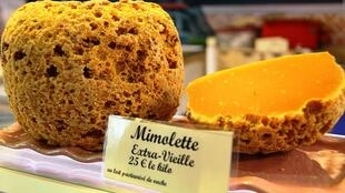 Mimolette cheese.