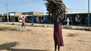 Les sorties en groupe apportent une protection aux femmes partant chercher du bois dans le nord du Soudan du Sud, près du POC. Mais cette protection est forcément très limitée.