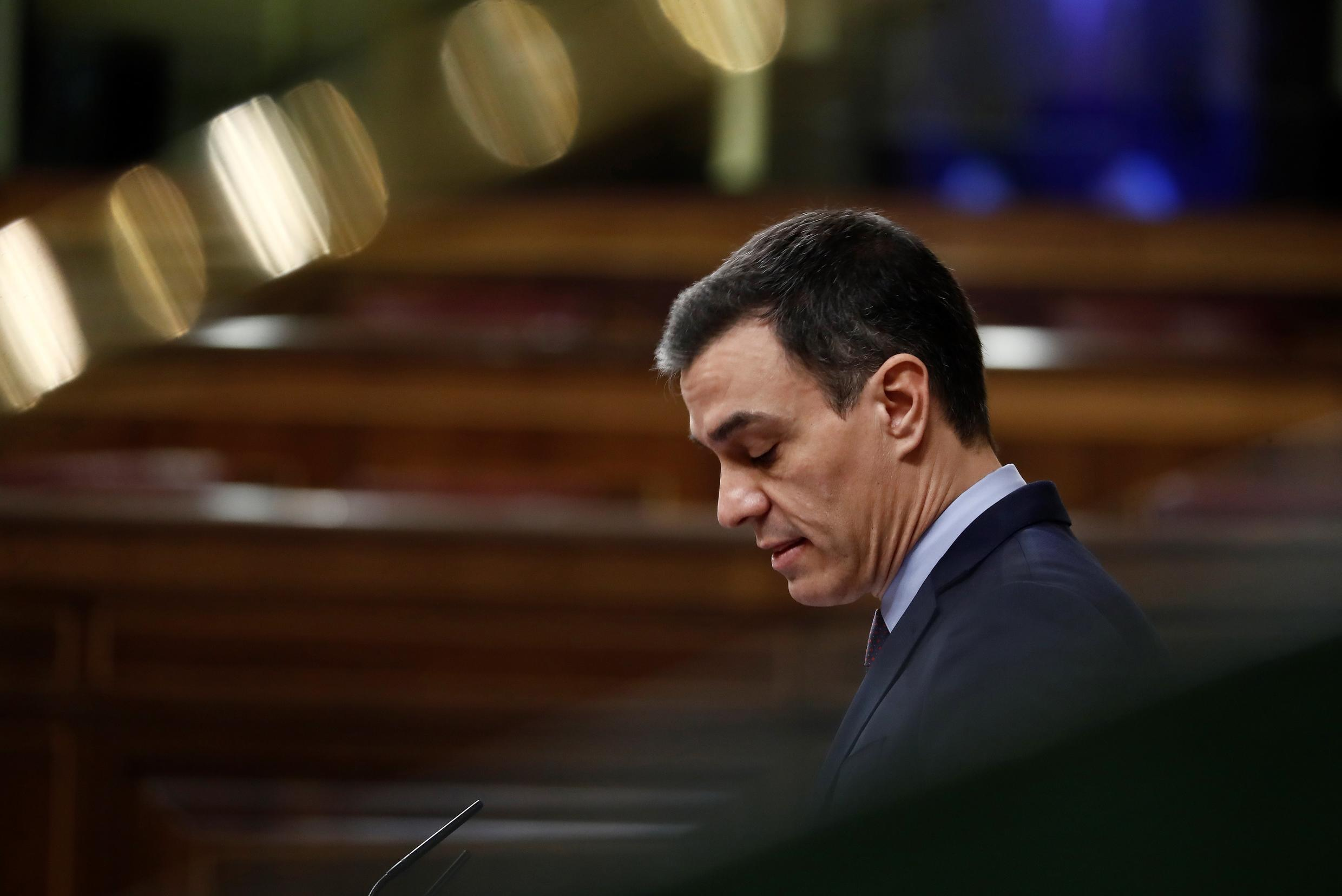 With the coronavirus numbers still spiralling, the government of Prime Minister Pedro Sanchez (pictured March 18, 2020) sought parliamentary approval to extend the state of emergency