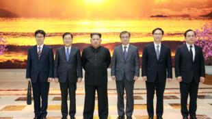 Kim Jong-un tiếp phái đoàn Hàn Quốc ngày 06/03/ 2018 tại Bình Nhưỡng.