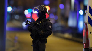A French special police forces member secures the area during a police operation where the suspected gunman, Cherif Chekatt, who killed three people at a Christmas market in Strasbourg, was killed, in the Meinau district in Strasbourg, France, December 13.