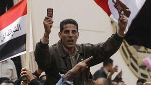 Police demonstrate in Cairo on Monday