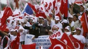 Supporters of Prime Minister Recep Tayyip Erdoğan