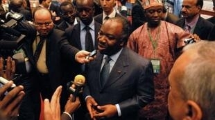 Gabon's President Ali Bongo in April