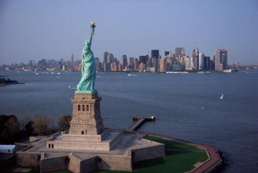 La baie de New York.