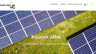 Capture d'écran du site Kouran Jabo.