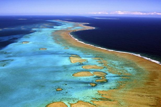 Rạn san hô ở Nouvelle-Calédonie, kỳ quan thế giới, được Unesco xếp hạng di sản năm 2008.