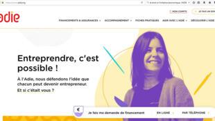 « Entreprendre c'est possible », affirme l'Association pour le droit à l'initiative économique, l'ADIE (Capture d'écran).