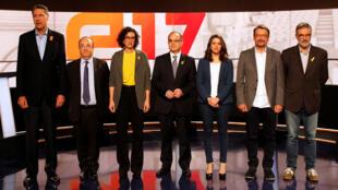 Os eleitos na Catalunha: prontos para tentar sair do impasse.