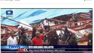 Le toit de l'église évangélique d'Uyo dans l'Etat d'Akwa Ibom au sud du Nigeria s'est effondré samedi 10 décembre et le bilan des victimes pourrait être lourd.