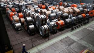 Tại nhà máy thép Mittal ở Ghent, Bỉ, 22/05/2018