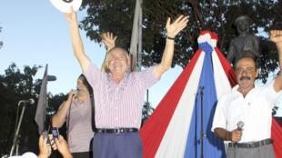 Lino Oviedo havia feito um comício neste sábado, em Conceição.