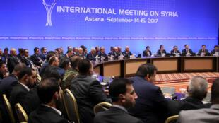 Les pourparlers d'Astana sur la Syrie, vendredi 15 septembre 2017.
