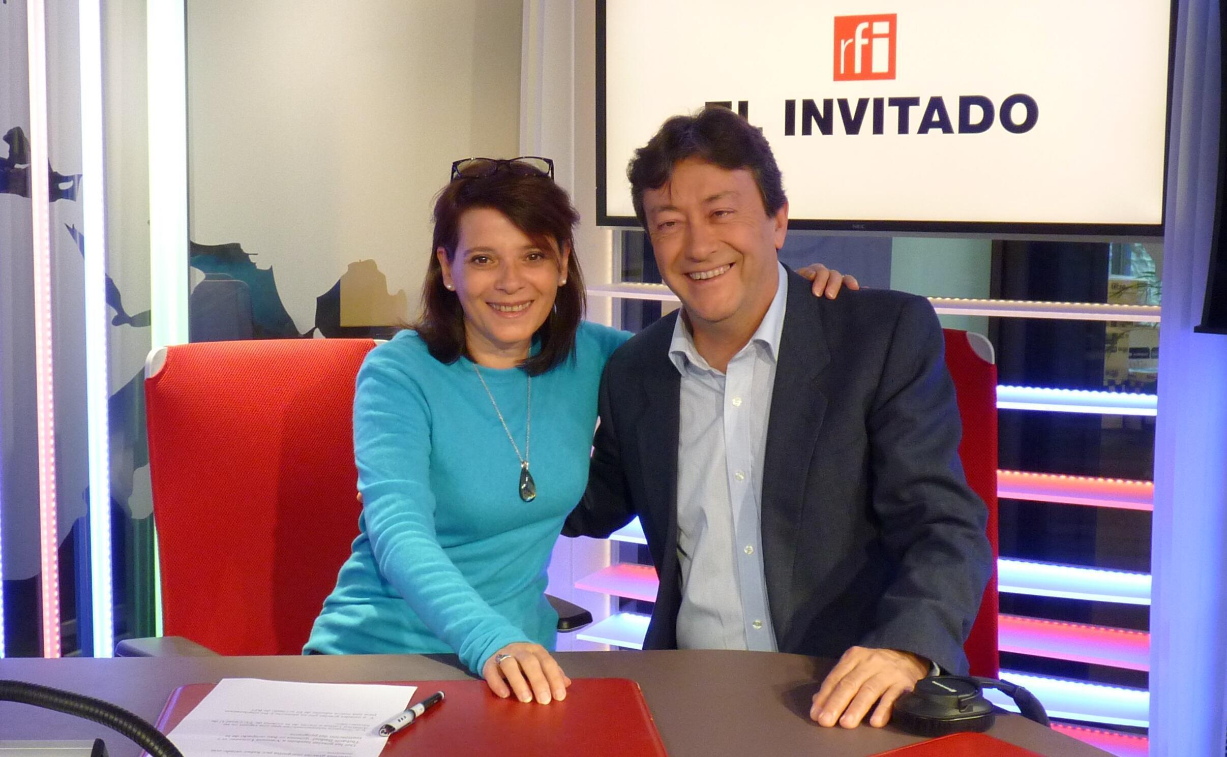 Margarita Saas y Jordi Batallé en el estudio 151 de RFI