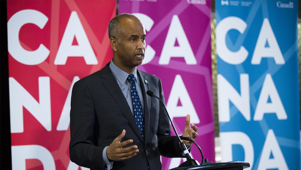 Ahmed Hussen, le ministre de l'Immigration au Canada, en 2017.
