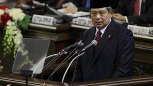 Tổng thống Indonesia Susilo Bambang Yudhoyono phát biểu trước Nghị viện, Jakarta, 16/08/2013