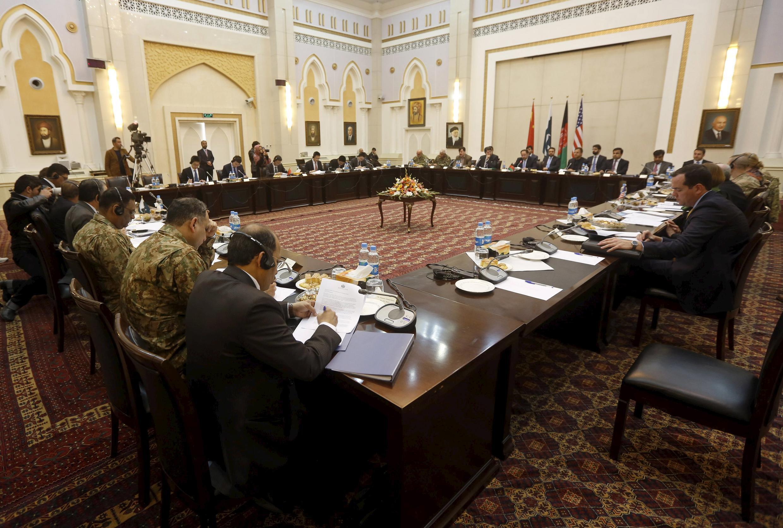 Phiên họp bốn bên tại Kabul để chuẩn bị đàm phán với Taliban ngày 23/02/2016.