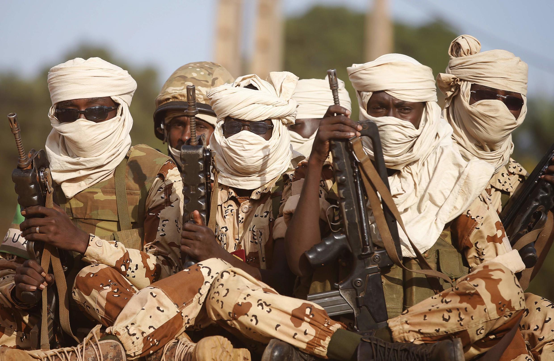 Binh sĩ Tchad trên đường rút quân khỏi Cộng hòa Trung Phi, ngày 05/04/2014.