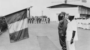 Mai 1972. Conakry. Fidel Castro et le président guinéen, Ahmed Sekou Touré.